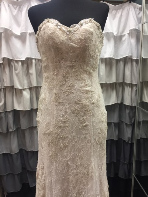 Maggie Sottero Ivory/Nude 012615g Wedding Dress Size 4 (S) Maggie Sottero Ivory/Nude 012615g Wedding Dress Size 4 (S) Image 1