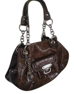 Kathy Van Zeeland Crocodile Shoulder Bag