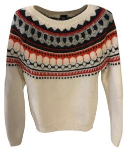 Gap Mohair Fair Isle Cream Sweater