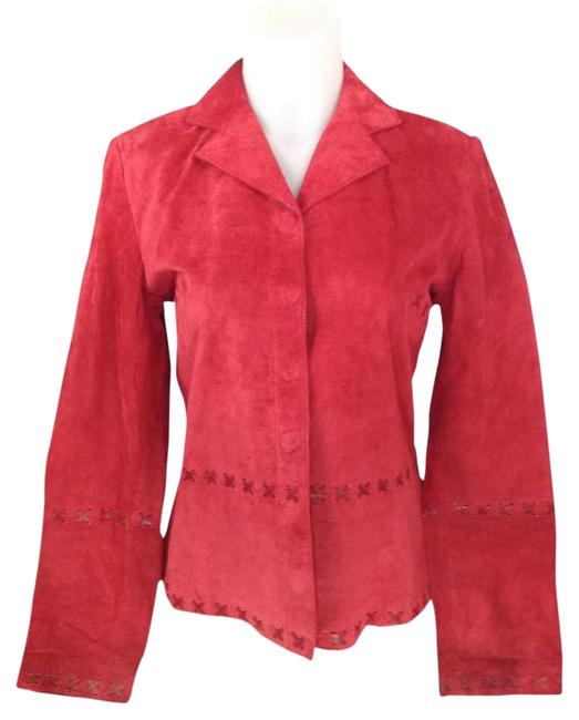 August Silk Logic Red Leather Jacket