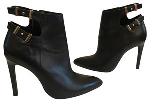 Guess Black Leather with Gold Hardware Boots