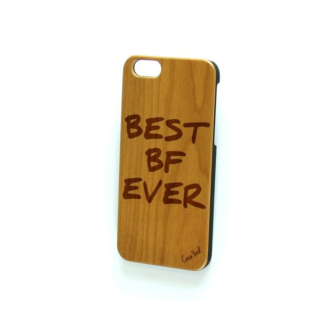 Case Yard Brown New Cherry Wood Iphone with Best Bf Ever Logo Iphone 7+ Tech Accessory Case Yard Brown New Cherry Wood Iphone with Best Bf Ever Logo Iphone 7+ Tech Accessory Image 1