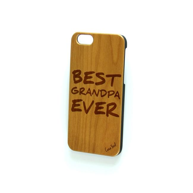 Case Yard Brown New Cherry Wood Iphone with Best Grandpa Ever Logo Iphone 7 Tech Accessory Case Yard Brown New Cherry Wood Iphone with Best Grandpa Ever Logo Iphone 7 Tech Accessory Image 1