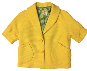 Yellow with Green Silk Lining Blazer