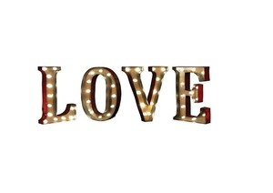 New Love Lighted Marquee Large Sign Free Standing Or Hanging Light Up Vintage Retro Battery Operated
