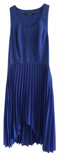 Blue Maxi Dress by Cut25 Pleated Hi Lo Sporty