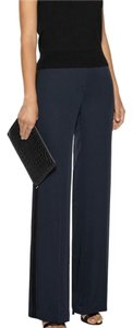 Theory Wide Leg Pants Light Navy/black