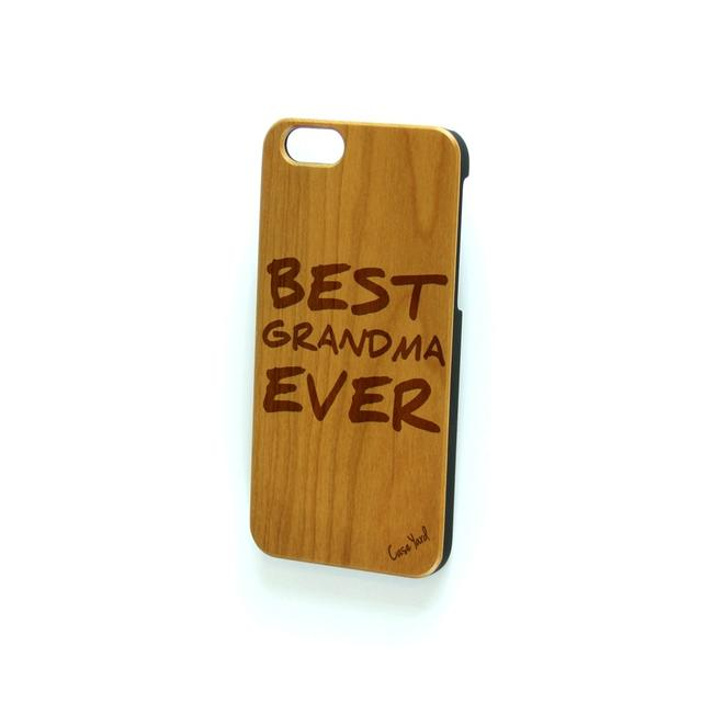 Case Yard Brown New Cherry Wood Iphone with Best Grandma Ever Logo Iphone 6+/6s+ Tech Accessory Case Yard Brown New Cherry Wood Iphone with Best Grandma Ever Logo Iphone 6+/6s+ Tech Accessory Image 1