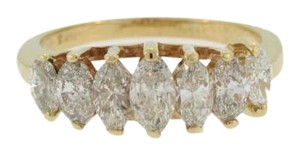 Vintage Stacked Marquise Cut Diamond Ring- 14k Yellow Ring
