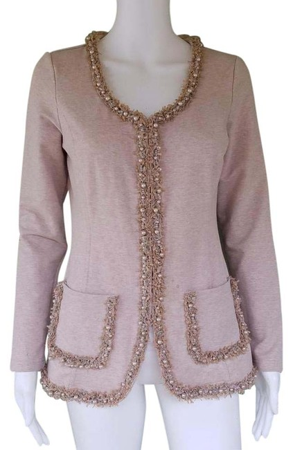 Preload https://img-static.tradesy.com/item/20325323/boston-proper-beige-beaded-fringe-jacket-small-s-jersey-cardigan-size-4-s-0-1-650-650.jpg