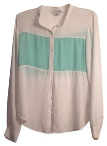 Forever 21 Top Mint Green/ Ivory