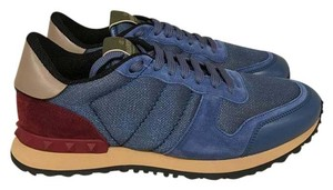Valentino Rockstud Studded Sneaker Trainer Suede blue Athletic