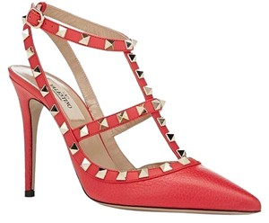 Valentino Rockstud Strawberry Pumps
