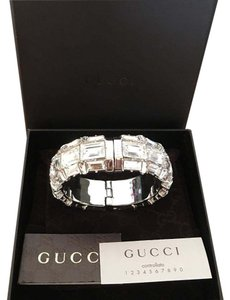 Gucci Gucci Enamel Crystal Embellished cuff bangle