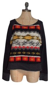 Dolan Elbow Patchwork Crop Sweater