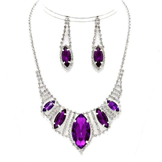 Preload https://item5.tradesy.com/images/clear-crystal-purple-silver-marquise-eye-evening-bridal-prom-bib-and-earring-set-necklace-2032554-0-0.jpg?width=440&height=440