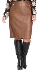 Charter Club Faux Leather Pencil Skirt Adobe Brown