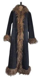Giacca Maxi Denim Long Snow Quilted Heavy Coat