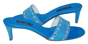 Bruno Magli Sandal Blue Sandal Made In Italy Holiday BLACK Mules