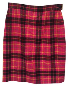 Escada Vintage Plaid Skirt