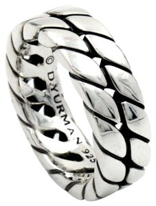 David Yurman Men's Curb Chain Ring in Sterling Silver
