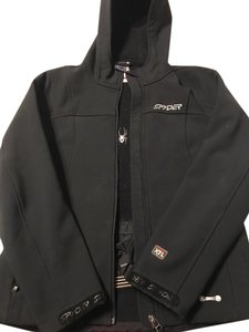 Spyder Ski Breathable Ultra-thin Ladies Black Jacket