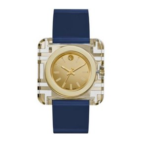 Tory Burch Tory Burch Izzie Gold tory blue Patent Leather Watch