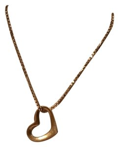 Other 14K Yellow Gold Floating Heart Charm