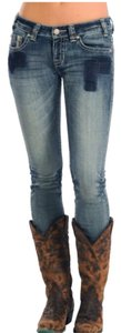 Rock and Roll Cowgirl Skinny Jeans-Distressed