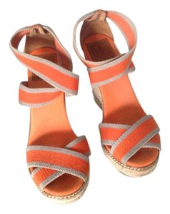 Tory Burch Beige and orange Wedges