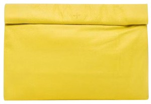 Marie Turnor Bronze Metallic Holiday Party Night Out yellow Clutch
