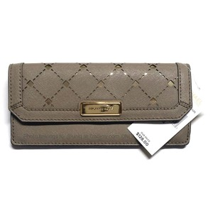 Michael Kors NWT MK Saffiano Leather Flap Slim Jamey Travel MK Wallet