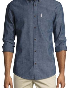 Ben Sherman Button Down Shirt Blue