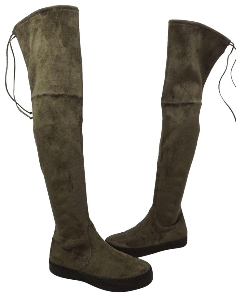 Stuart Weitzman Brown Playtime Knee Swamp Suede Over The Knee Playtime Boots/Booties 2e547a