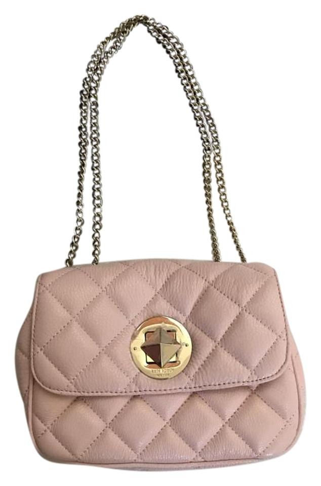 Kate Spade Quilted Gold Hardware Crossbody Unused Blush Pink Quilt ... 1bd00c06badff