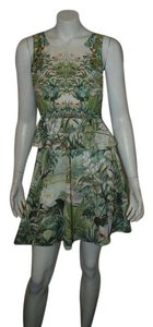 H&M short dress GREEN Peplum H & M Conscious Jungle Holiday on Tradesy