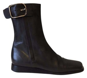 Hermès deepest richest grey but looks black Boots