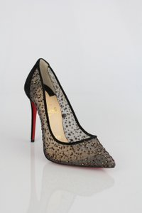 Christian Louboutin Pigalle Follies Pigalle Follies Lace Louboutin Follies Size 36 Black Pumps