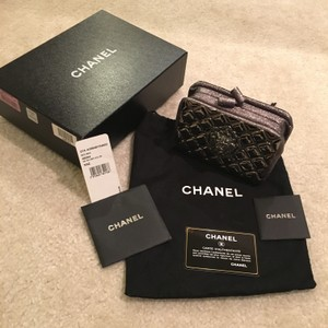 Chanel Runway pewter silver Clutch