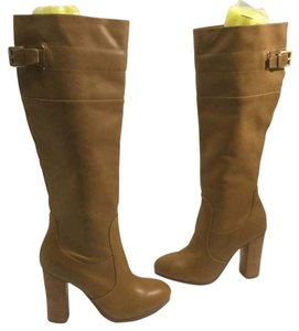 Vince Camuto Stack Wood Heels Strap Buckle 2/3 Zipper Topstitching $10 OFF NEW Brown leather 4