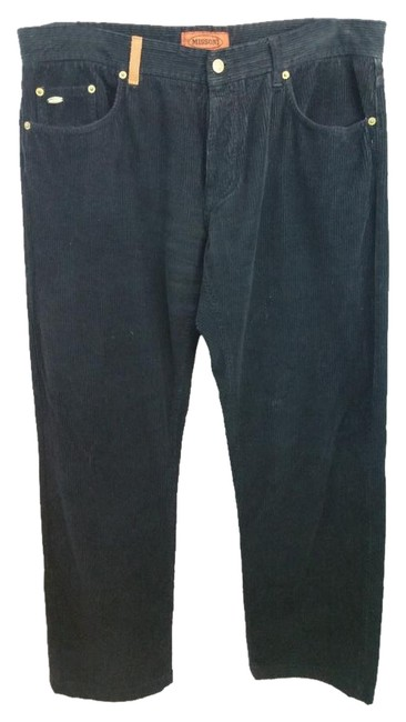 Missoni Made In Italy Black Cotton Corduroy Casual Pants 40 Missoni Made In Italy Black Cotton Corduroy Casual Pants 40 Image 1