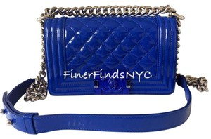 Chanel Cobalt Small Boy Shoulder Bag