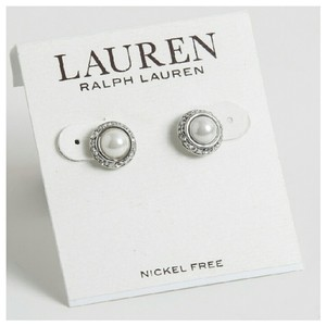 Ralph Lauren Ralph Lauren Small 4mm Faux Pearl And Rhinestones Earrings