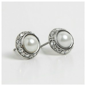 Ralph Lauren Pearl with Rhinestone Earrings 4mm.