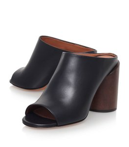 Givenchy Slip On Chunky Heel Black Mules