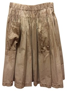 Prada Cotton Big Pockets Full Skirt cream