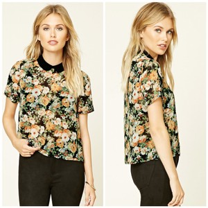 Forever 21 Top multi floral