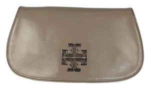Tory Burch Patent Leather Chain Strap Crossbody Strap French Grey Clutch