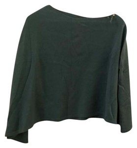 Max Studio Green Cashmere Wrap Cape