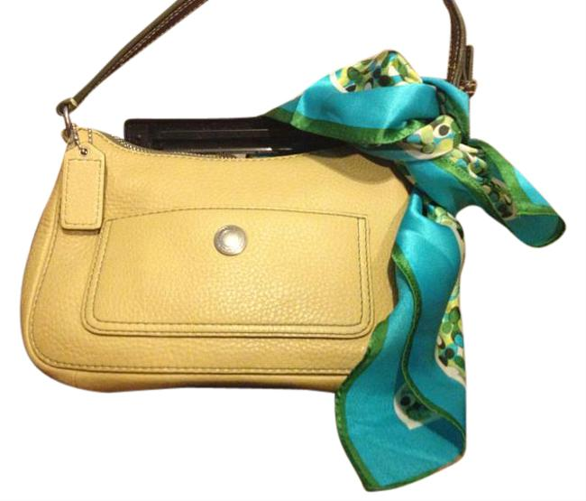 Coach Pebble Shoulderbag Green (Pea Green) Leather Satchel Coach Pebble Shoulderbag Green (Pea Green) Leather Satchel Image 1